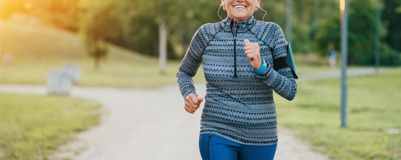 Older woman running